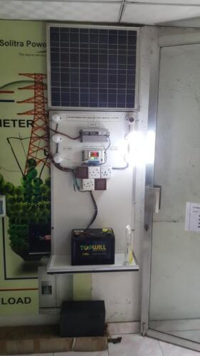 Solar off-grid battery backup display system at our showroom