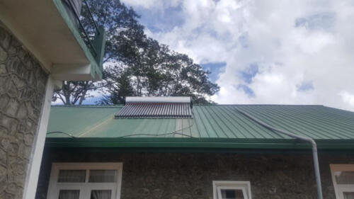 450 LT hot water system in Army holiday bungalow, Diyatalawa