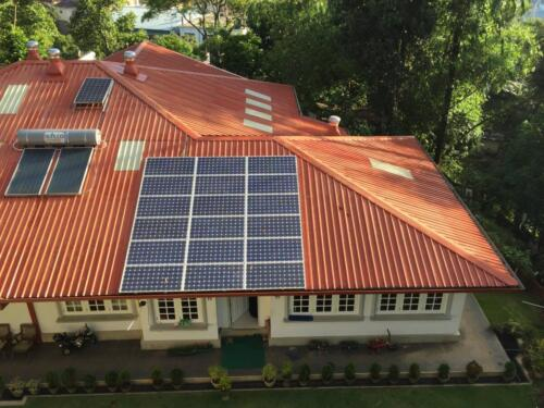 Solar installation of 4 kW on-grid system at Bandarawela