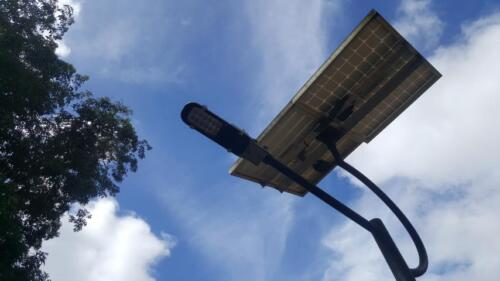 Solar street lights system at Diyatalawa
