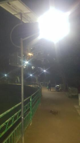 Solar Street Lights System (night view) at the UC Ground, Bandarawela