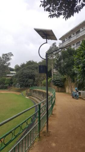 Solar Street Lights System (day view) at the UC Ground, Bandarawela